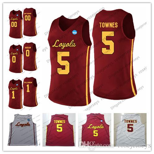 new concept b9fc4 4b447 NCAA Loyola Chicago Ramblers #5 Marques Townes 0 Donte Ingram 1 Lucas  Williamson 30 Aher Uguak white Red SISTER JEAN Jerseys S-4XL
