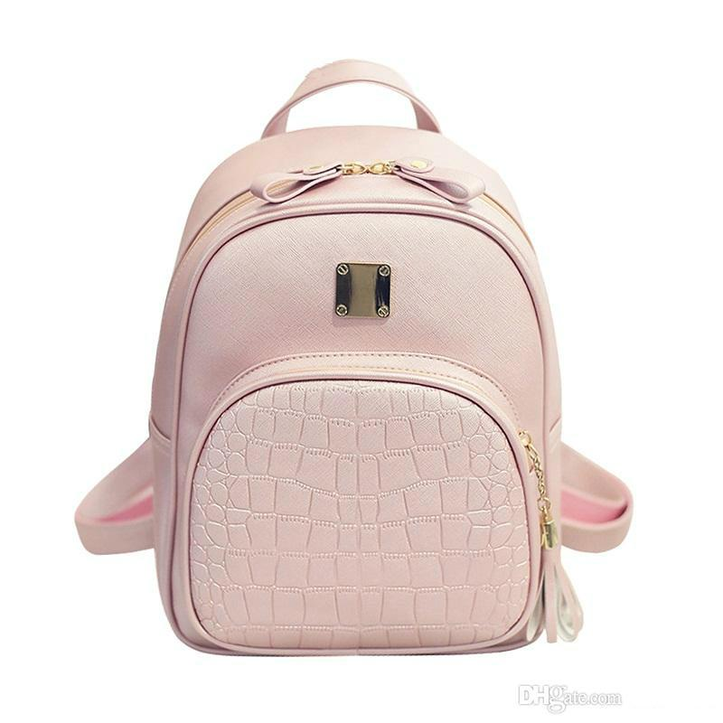 High Quality Backpack Women Backpacks Alligator School Bags For Girls Pu Leather Softback Black Bagpack Small sac a dos ecole