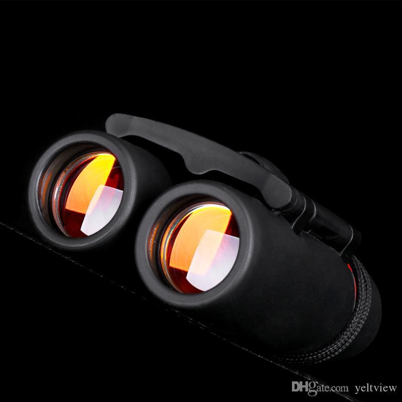 Mini Dürbün Gece Görüş ile Katlanır Dürbün Yakınlaştırma Optik Len Teleskop kuş gözlemciliği seyahat avcılık için kamp ile paketi