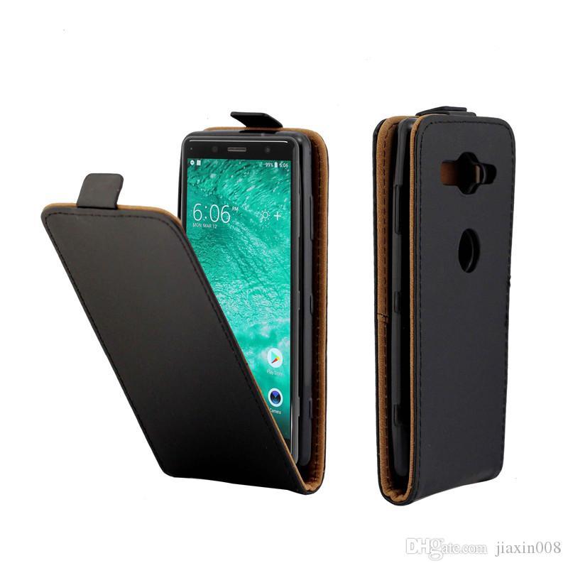 ef283404594 Accesorios De Celular Estuche De Cuero Para Sony Xperia XZ2 Compacto  Vertical Flip Fundas Para Ranuras De Tarjetas Para Sony XZ2 Bolsas Para  Teléfonos ...