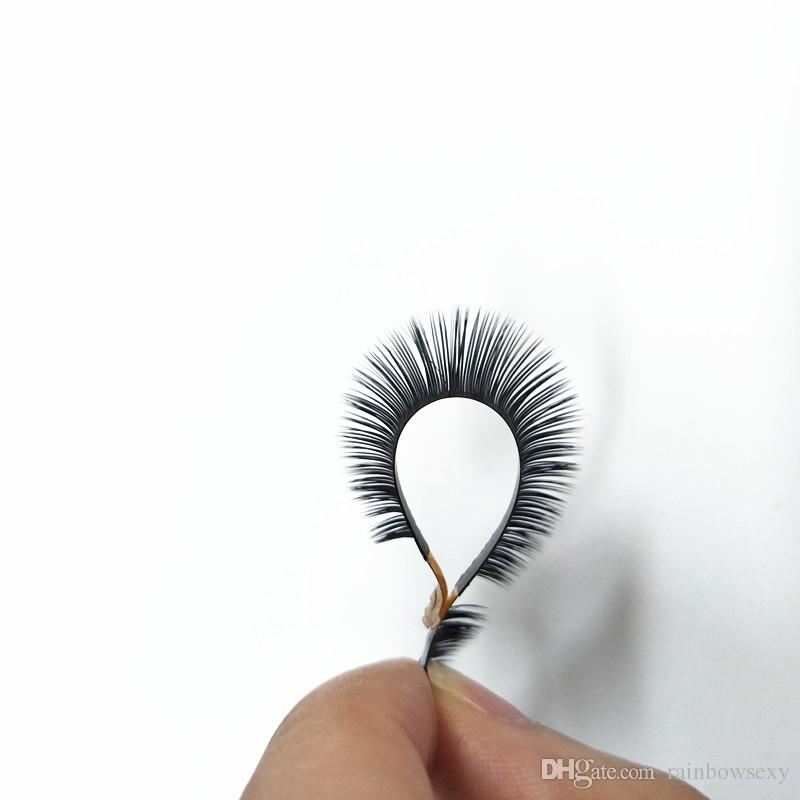 2018 Seashine hot sale new arrived Flat Ellipse Eyelashes Extensions split tips, natural light false eyelashes thickness
