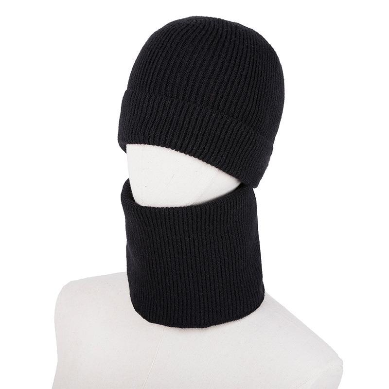 Compre Moda Unisex Beanie Mujer Hombre Elástico Tejido Sombrero Snood Bufanda  Conjunto De Dos Piezas Sólido Acanalado Casual Cálido Invierno Caps Pañuelo  ... 150309c6221