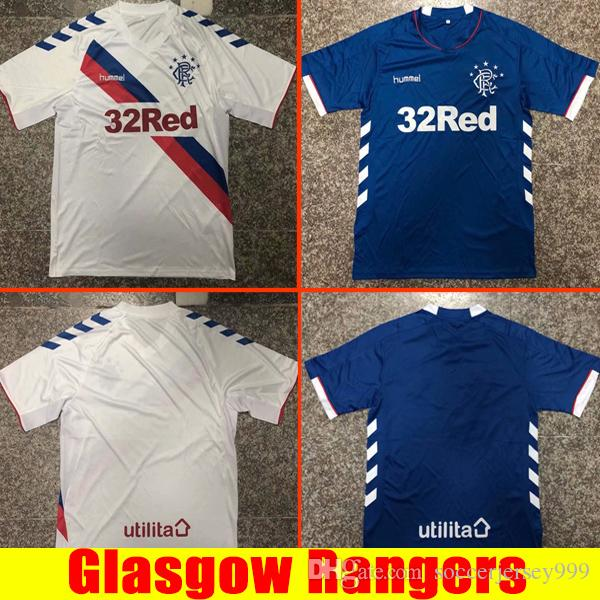 41c60fa909f 2018 Top Thailand Quality Glasgow Rangers Soccer Jersey 2019 Ranger 18 19 Home  Away Jersey Football Kit Soccer Shirt Scottland Premiership Jersey From ...