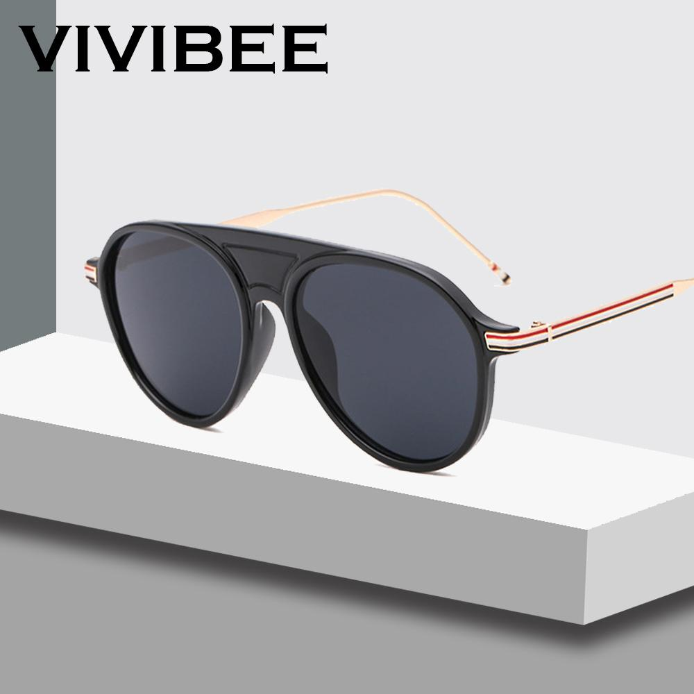 VIVIBEE Unique American Luxury Black Vintage Brand Designer Pilot Unisex  Alloy Metal Frame Sunglasses 56mm Sunglasses Hut Reading Glasses From  Lotusflowern 08e390d7589