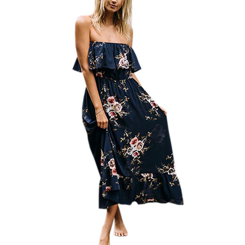 6b5e8281fb90f Once 3.28 Summer Women Elegant Beach Clothing Dress Ladies Bohemian ...