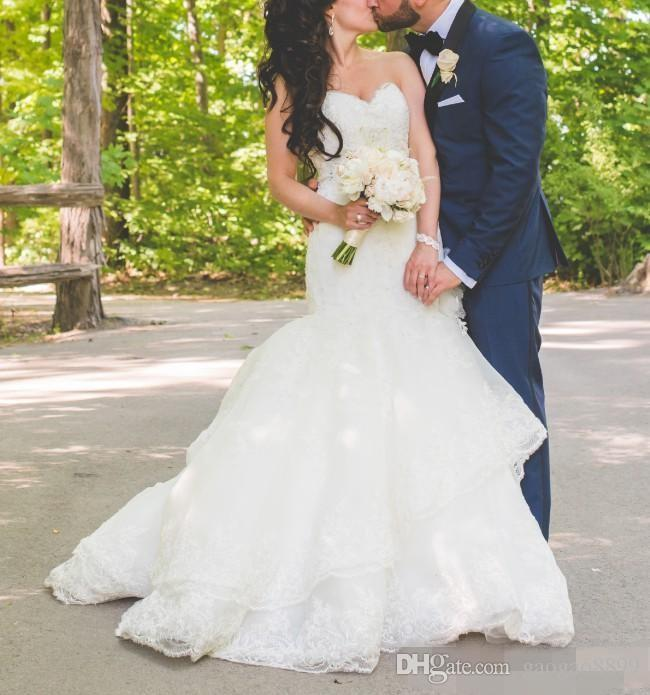 2019 Vintage Lace Mermaid Wedding Dresses Bridal Gowns Sweetheart Neckline country Wedding Gown Custom Made plus size