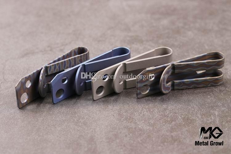 MG Metal Growl Titanium Alloy TC4 Ti Slim Cash Monedero Titular de la tarjeta de crédito Llave hexagonal