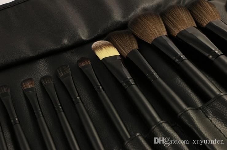 Sac en PU Ensemble Maquillage Professionnel Pinceau Fondation Ombres À Paupières Poudre À Maquillage Outils De Pinceau meilleure qualité peut imprimer logo