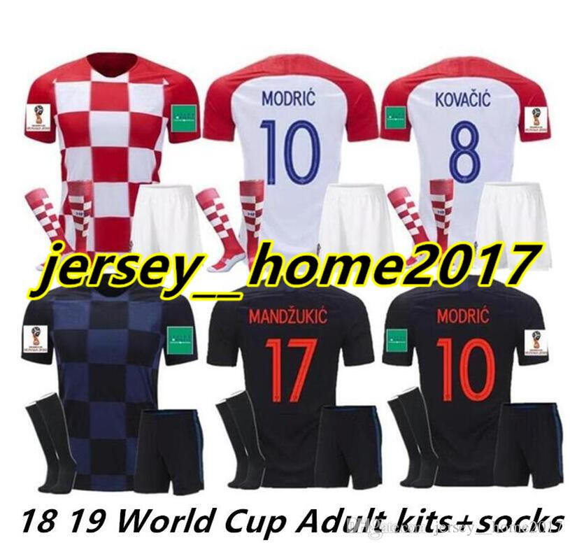 30706072f6c 2018 Designed for Home Adult Kit +sock Soccer Jersey MODRIC PERISIC ...