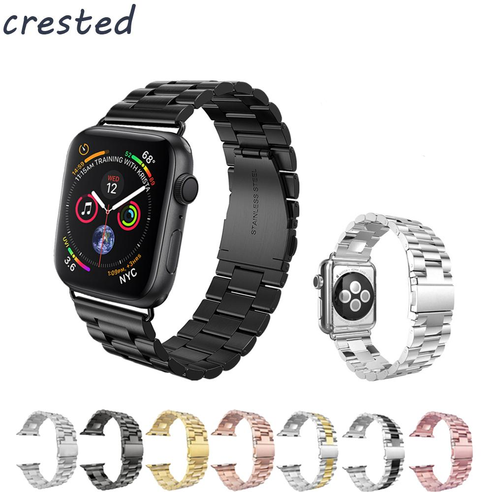 b398388aa Luxury Stainless Steel Strap Band For Apple Watch Band 42mm 38mm Bracelet  Watchband For IWatch 4 3 2 1 Metal Wrist Belt Hot Sale Wrist Watch Straps  Iwatch ...
