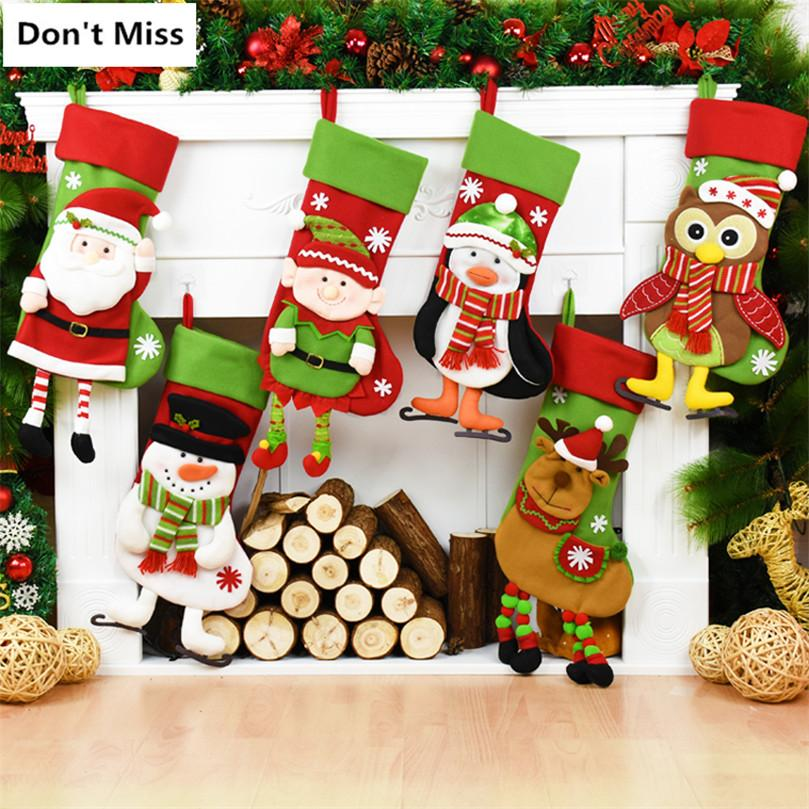 christmas tree decorations christmas stockings new year door wall hanging ornaments gift holders christmas candy bag online with 15749piece on
