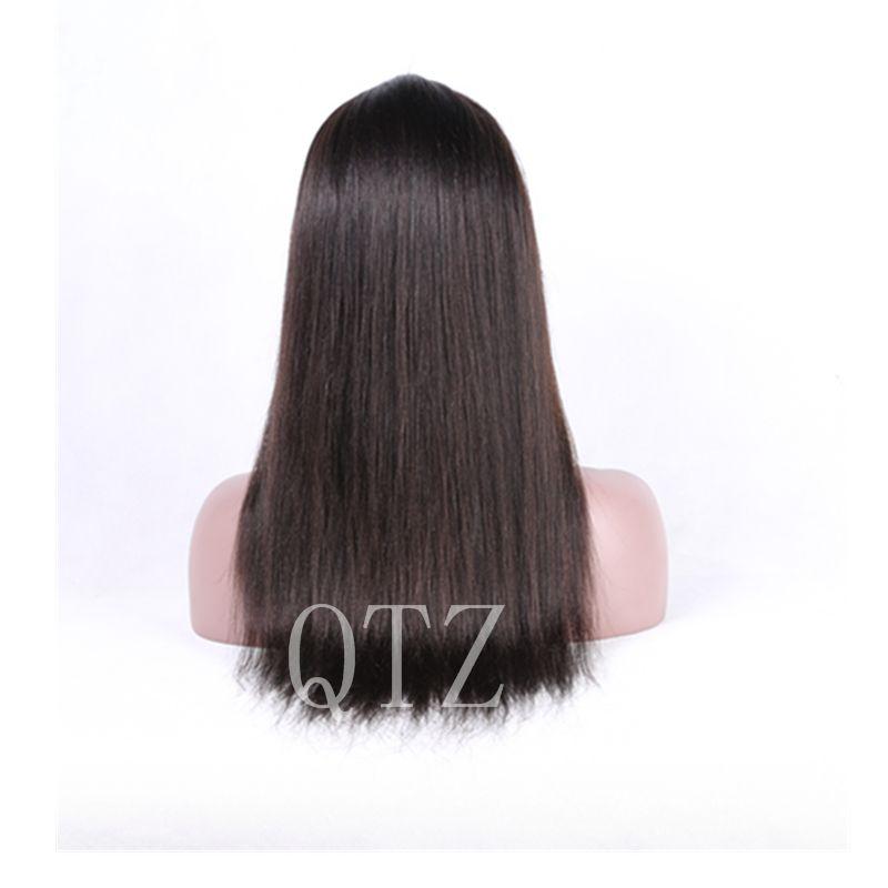 Melhor Base De Seda Peruca Dianteira Do Laço Com o Cabelo Do Bebê Mongolian cabelo Cheia Do Laço Perucas de Cabelo Humano Sem Cola Peruca Cheia Do Laço Para As Mulheres Negras