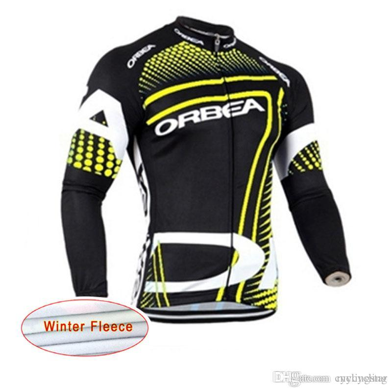 New ORBEA Cycling Jerseys Long Sleeve Bike Shirt Men Winter Thermal ... 068e32d36