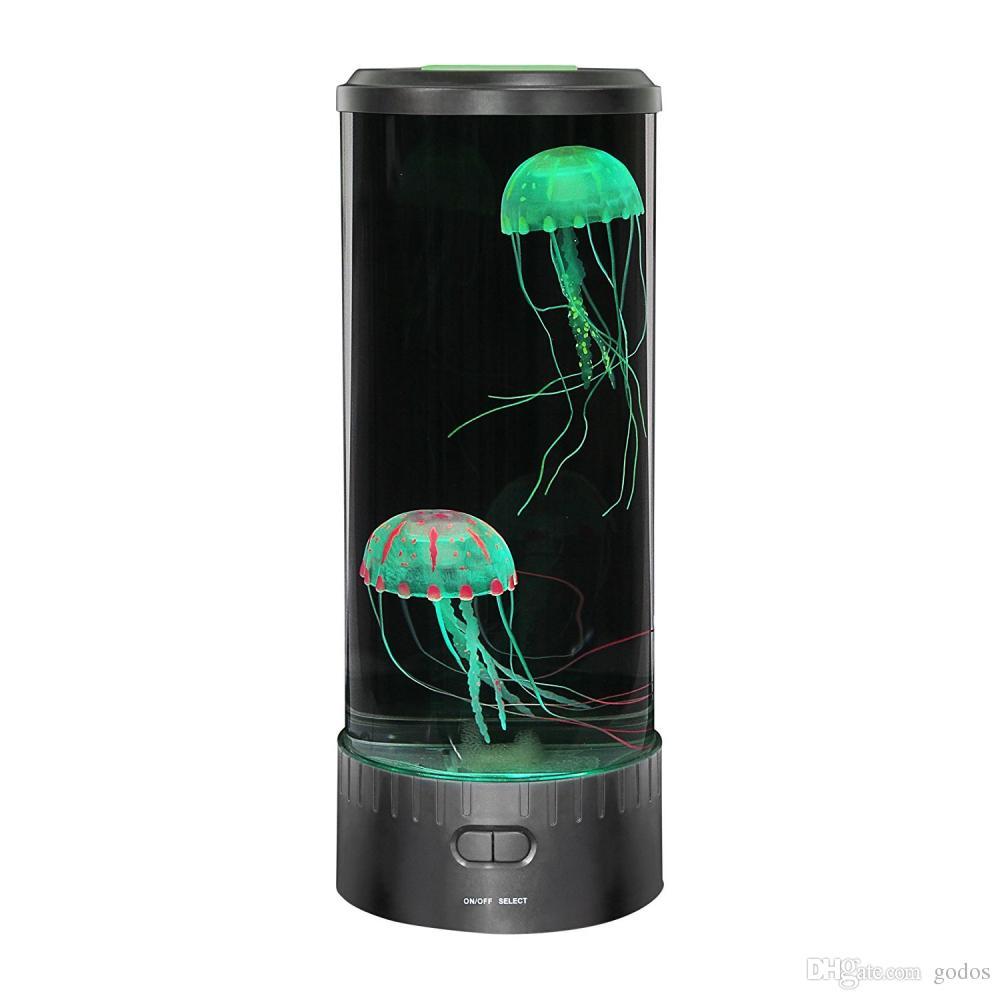 Des De Bureau Méduse Mini Lampe Couleur Avec Effets Led Lumière Changeant EI29YeWHbD