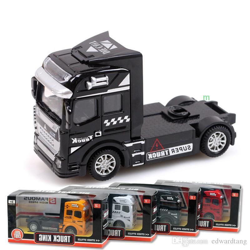 De GarçonsPour ConteneurWagon Des D Anniversaire Modèle Camion Porte Jouets En AlliageTête MarchandisesFavorate Voiture Cadeaux L4j5RA3q