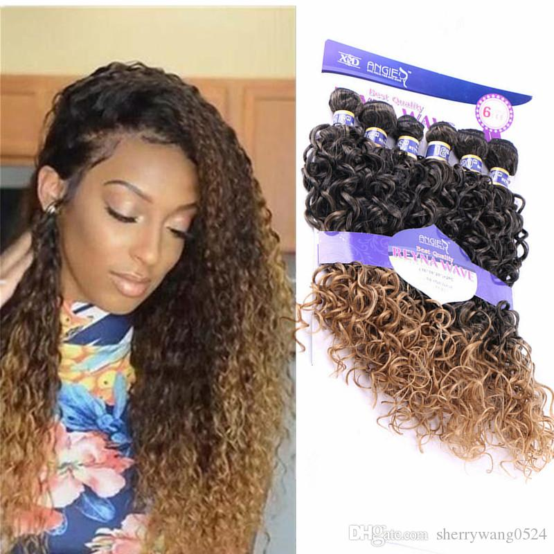 Synthetic Womens Hair Weaving High Temperature Fiber Hair Water