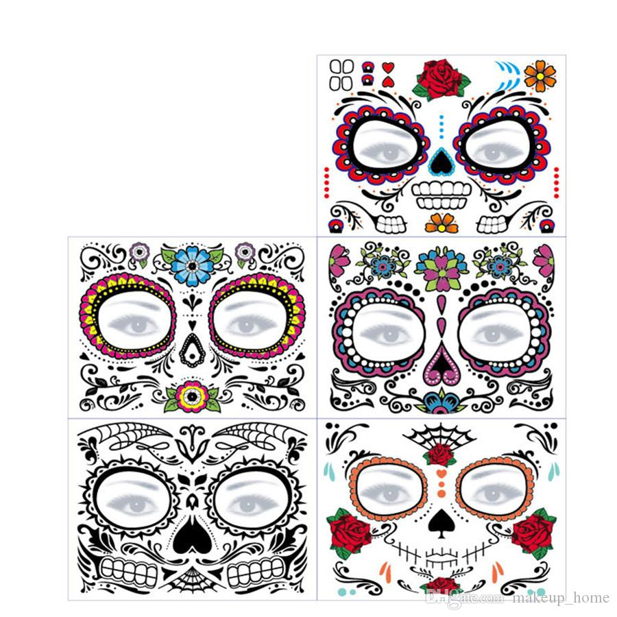 Wholesale Day Of The Dead Skull Face Halloween Festival Party Cool