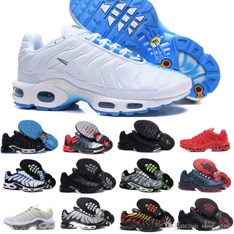 bb945d27aeacd Acheter Nike Air Max Tn Shoes Vapormax Airmax Tn Plus Chaussures 2018  Nouveau Design Hommes Chaussures Pour Pas Cher Tn Requin Respirant Mesh Noir  Blanc ...