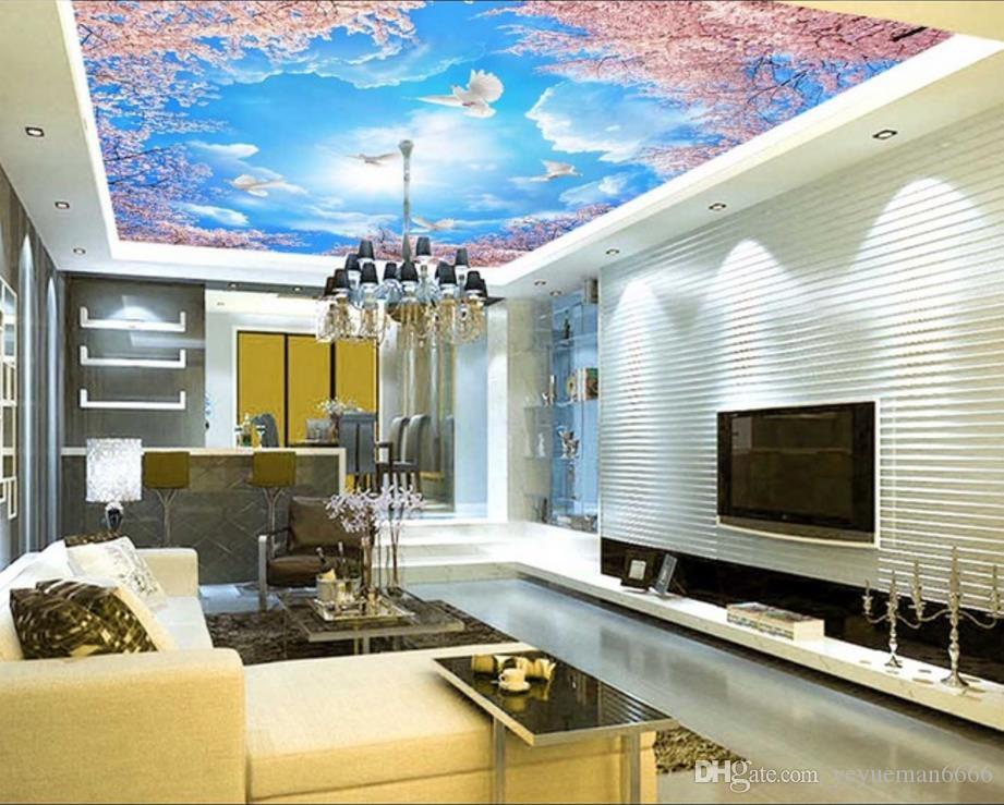 custom modern wallpaper 3d Ceiling Embossed pattern photo wallpaper Living Room Bedroom 3d Ceiling 3d nature wallpapers