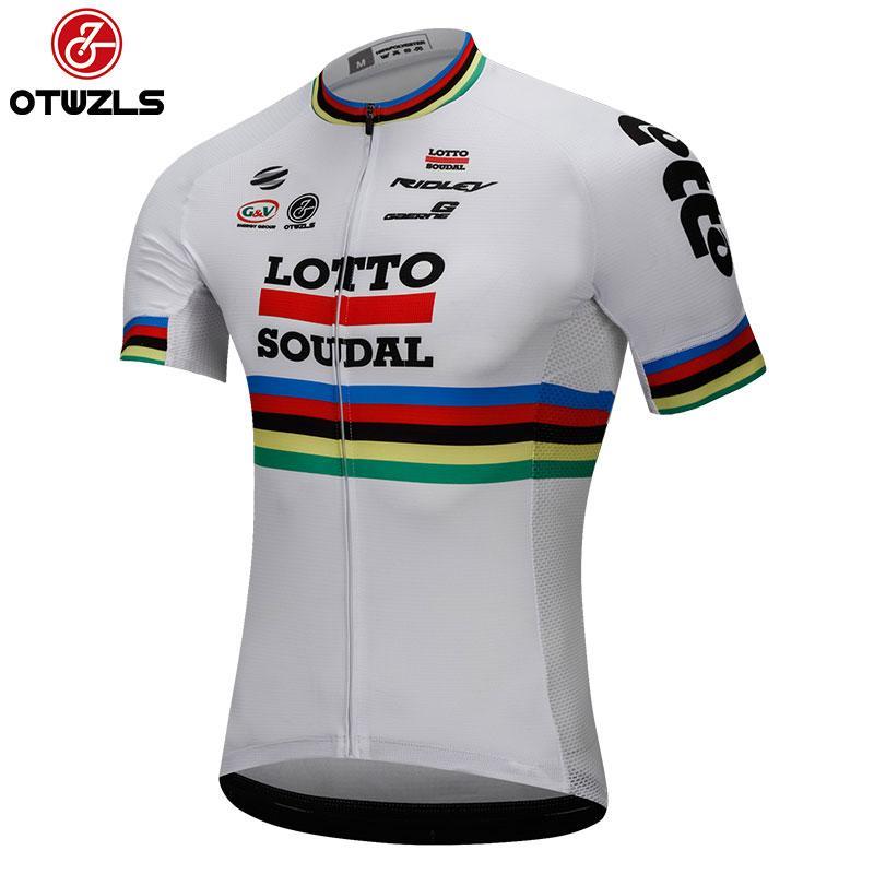 LOTTO 2018 Cycling Jersey Men Summer Reflective MTB Cycling Clothing ... eee3e7388