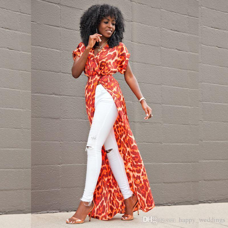 Bohemian maxi elbise 2018 ilkbahar yaz çiçek baskılı plaj elbise afrika kadınlar boho robe giyim seksi yüksek yarık parti elbiseler