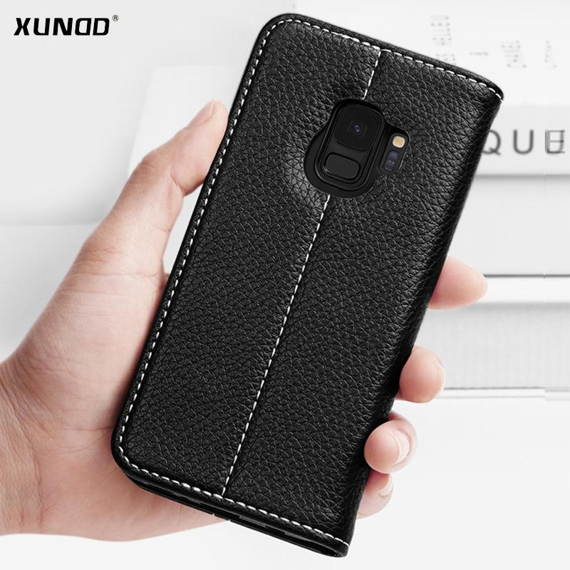 new products 9670a 18065 For Samsung Galaxy S9 S9 plus/ Note 8 Case XUNDD Luxury Leather Magnetic  Flip Wallet case For galaxy s8 s8 with card slot Kickstand