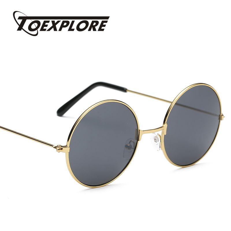 1fb699885d TOEXPLORE Steampunk Metal Frame Sunglasses Men Women Brand Designer ...
