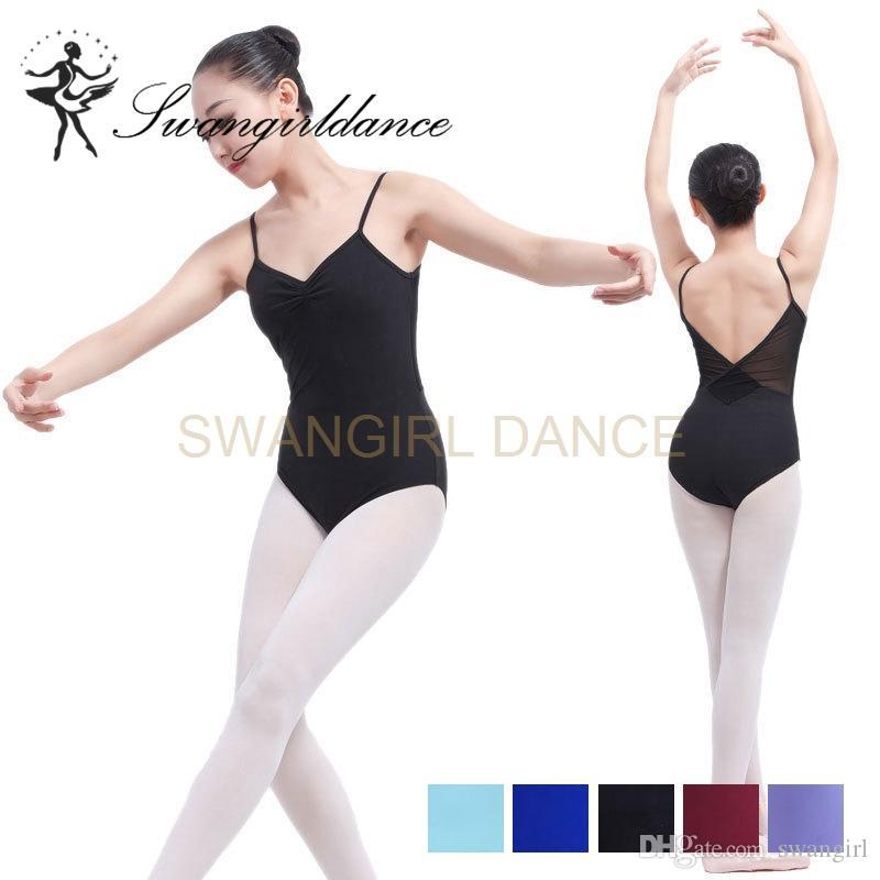 3710d16626e3 2019 Sexy Women Cami Ballet Women Leotard With Mesh Adult Training  Dancewear Ballet Dance Costume Leotards For Girls ML6014 From Swangirl,  $14.4 | DHgate.