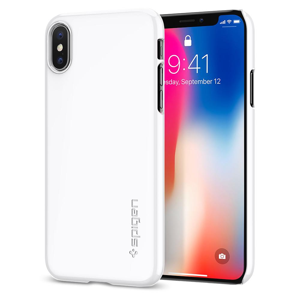 100 Original Spigen Thin Fit Hard Back Cover Case For Iphone X Classic One Aluminium Gray Online With 4467 Piece On Shuokai003s Store