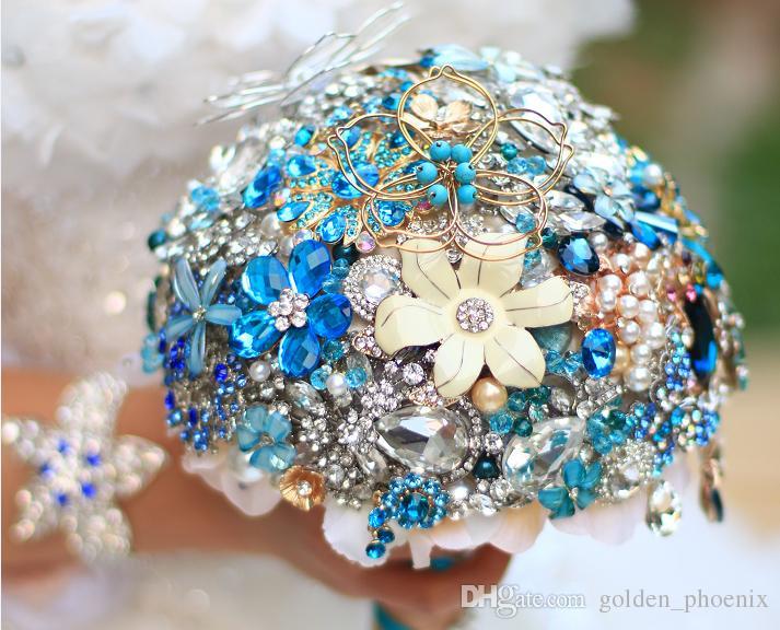 High End Custom Wedding Green Embellishment Silver Jewelry Brooch ...