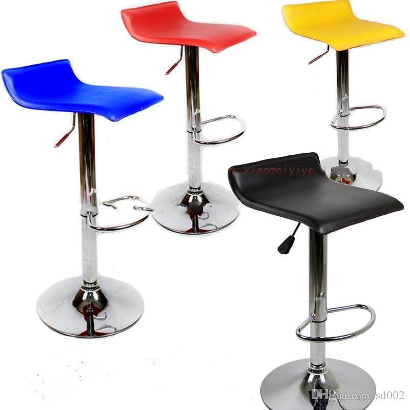 2018 European Style Portable Bar Chair Lift Fashion Pure Color Rotate Stool  Household Pu Arm Chairs Adjustable High Grade 68dk2 Ww From Sd002, ...