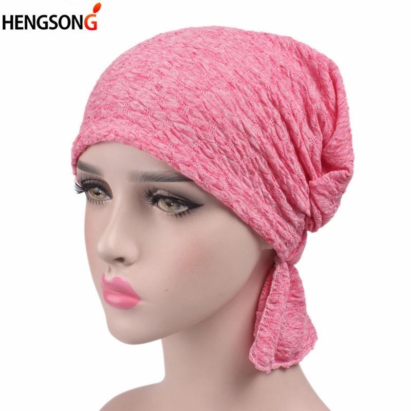 Breathable Hat Women S Bubble Cotton Kerchief Chemo Cap Turban Skullies  Beanies Women Winter Hat Cap Headwear Hair Bands Crochet Baby Hats Ladies  Hats From ... e14f58156a1