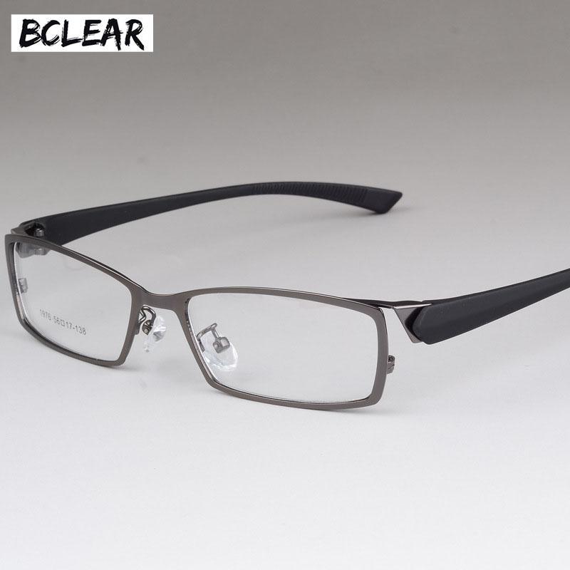 Compre BCLEAR Novo Estilo Homens Óculos De Armação High End De Negócios  Masculino Olho De Metal Espetáculo Molduras Homens Miopia Quadro Óculos  Confortável ... 6304a2d5d1