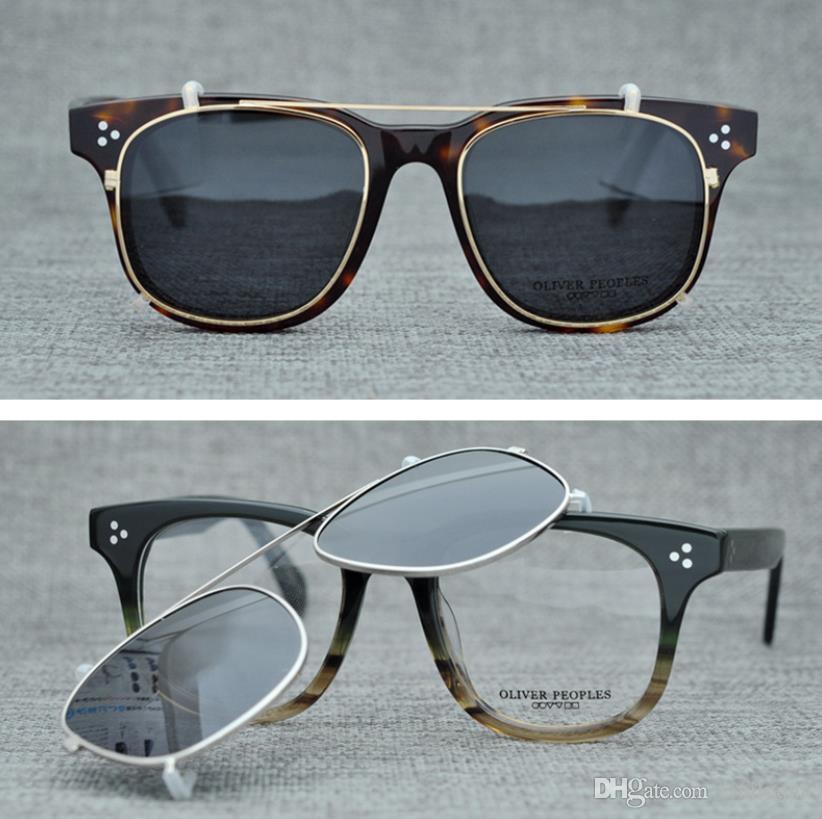 2f99556ac7 Brand Oliver Peoples Eyewear Clip On Polarized Sunglasses For Men Women Sun Glasses  Eyeglasses Frames Optical Glasses With Original Box Sun Glasses Eyewear ...