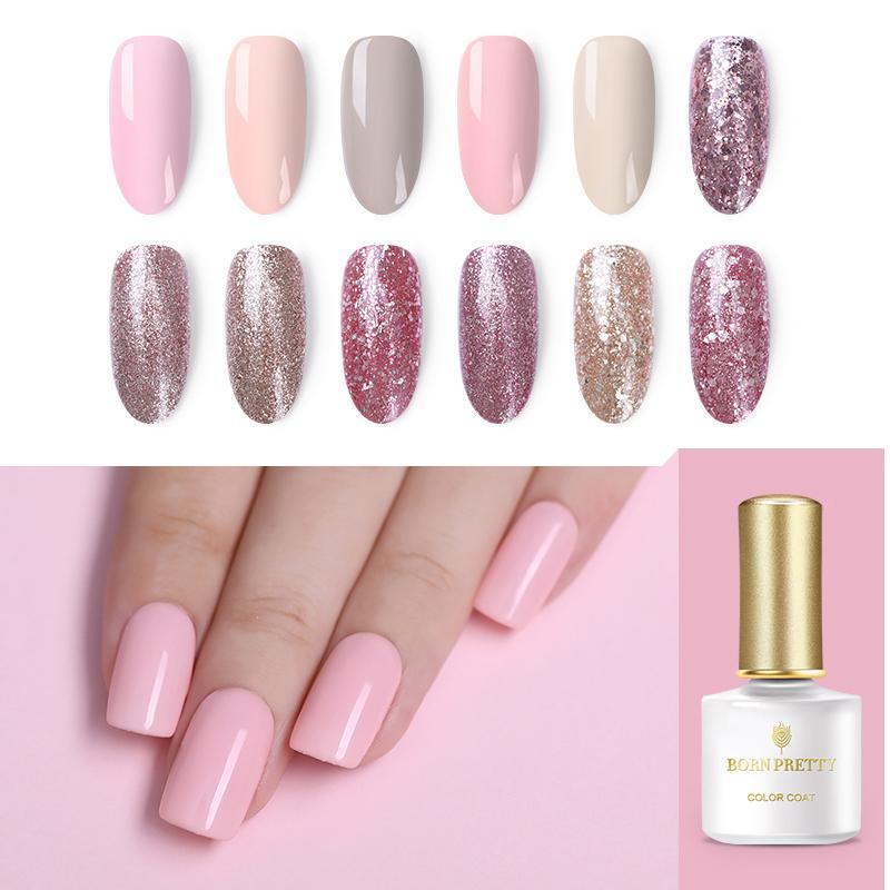 BORN PRETTY 6ml Nude Rose Gold Gel Polish Glitter Soak Off UV Gel Nail Art  UV Polish Colorful Sequins Manicure Tools Nail Gel Overlay Artistic Nail Gel  From ... 5fb3185f8d0c