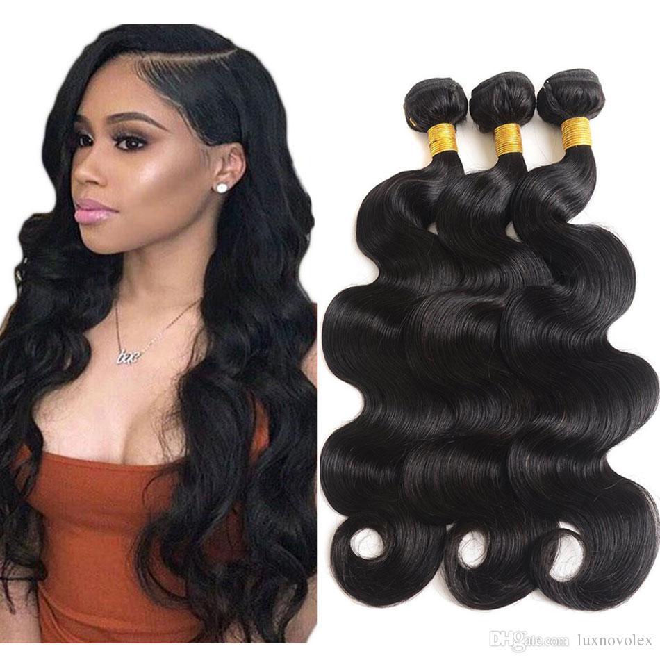 8A Indian Body Wave Human Hair Bundles Unprocessed Brazilian Virgin Hair Body Wave Malaysian Peruvian Bundles Human Hair Extensions Cheap