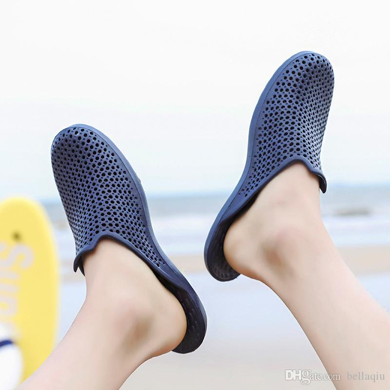 3d8243844 Wholesale Special SALES Blue Black Brown Mens Beach Summer Slippers Flip  Flops Couple Slippers Outdoor Beach Flip Flops Ankle Boots Slippers From  Bellaqiu