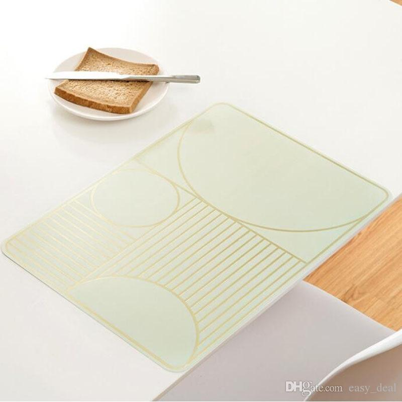 Almofada isolada com calor Placa de plástico Placa de cozinha Prato de prato de jantar Prato impermeável Tapete de mesa de restaurante doméstico Frete grátis ZA6231