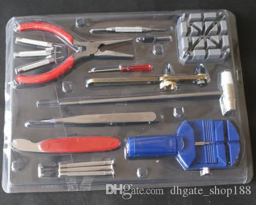 2017 hohe Qualität Neue Universal 16 Teil / satz Uhr Clock Opener Tool Kit Uhr Repair Tool Cell Pin Remover Feste Werkzeuge Uhrmacher