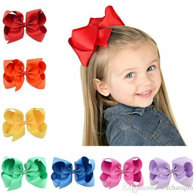 는 헤어핀의 15cm 무료로 6 인치 아기 큰 나비 hairbows 유아 여자 머리 활을 선택 * 12cm BY0117