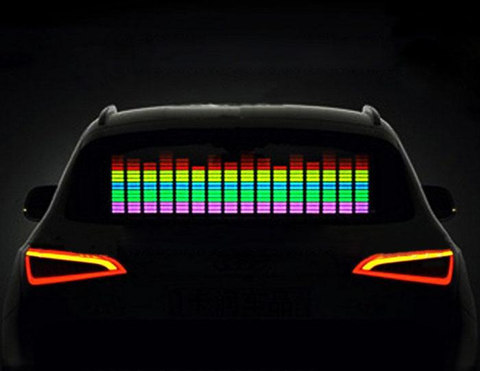 Other Musical Instrument Equip 45x11cm Auto Musik Rhythmus Led Licht Lampe Aufkleber Sound Aktiviert Equalizer