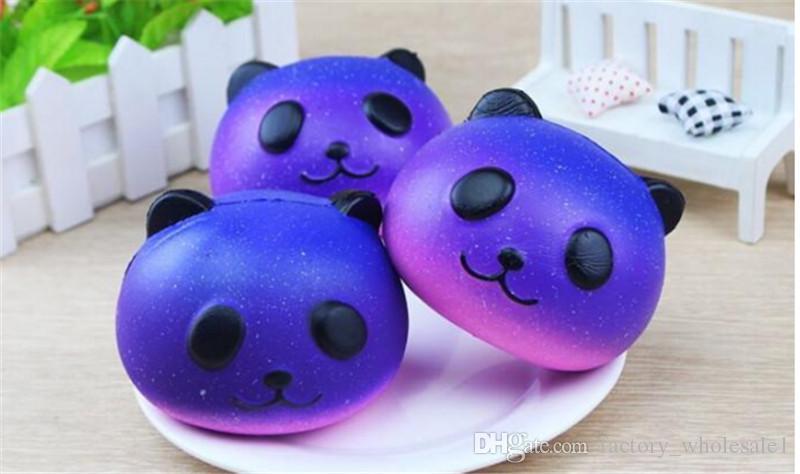 Squishy Galaxy Panda Blau Super Langsam Steigender Jumbo PU Squishy Squeeze Phone Strap Kinder Spaß Spielzeug Geschenk Dekompressions Spielzeug