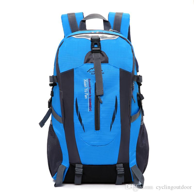 e961c304b3 Wholesale 2018 New Outdoor Waterproof Large Capacity Male Mountaineering Bag  Female Travel Bag Backpack Sports Riding Backpack Handbag Backpack Bag  Online ...