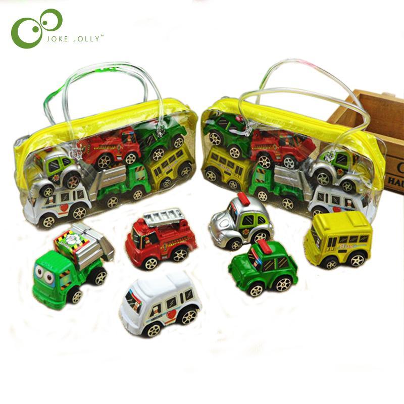 Pequeño Pull Plástico Girl Niños Unids Mini Car Vehículo 6 Infantil Coche Juguete Back Toys De Nuevo Colorido Wyq Classic Truck Set Boy 4AjRL53