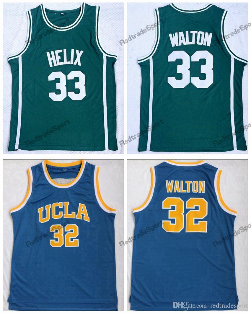 info for d8162 c32a7 Mens Cheap 33 Bill Walton Helix High School Green Vintage Basketball  Jerseys 32 Bill Walton UCLA Bruins Stitched Shirts S-XXL