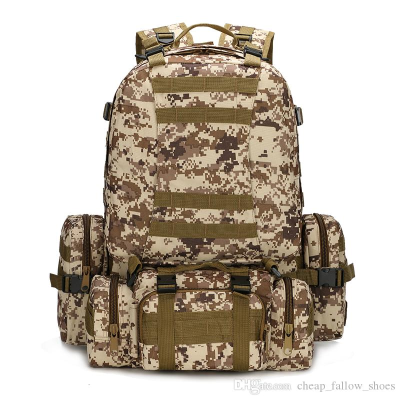 MOLLE Tactical Backpacks Gear Waterproof 1000D Assault Outdoor Travel Hiking  Sport Amy Rucksacks Hunting Multi Function Bag Free Shopping. dd86bbca8757e
