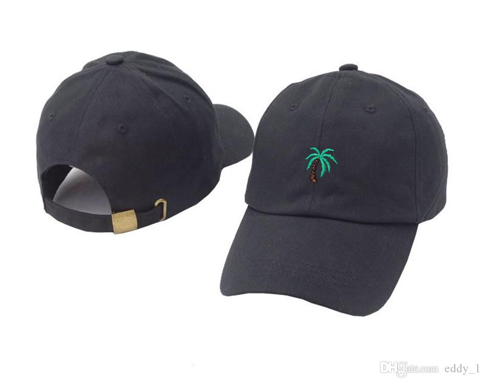 ff7a8d2e 2018 new Embroidery Palm Trees Curved Dad Hats Take A Trip Baseball Cap  Coconut Trees Hat Strapback Hip Hop Cap Adjustable
