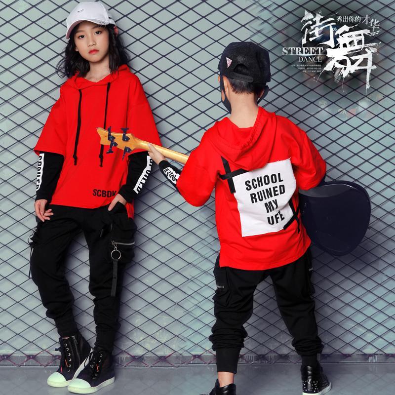 9f6dea2259 Compre Novo Estilo Coreano Hiphop Roupas De Dança Para Crianças Meninos  Meninas Mulheres Homens Crianças Jazz Hip Hop Pop Terno Rua Dancewear  Trajes De ...