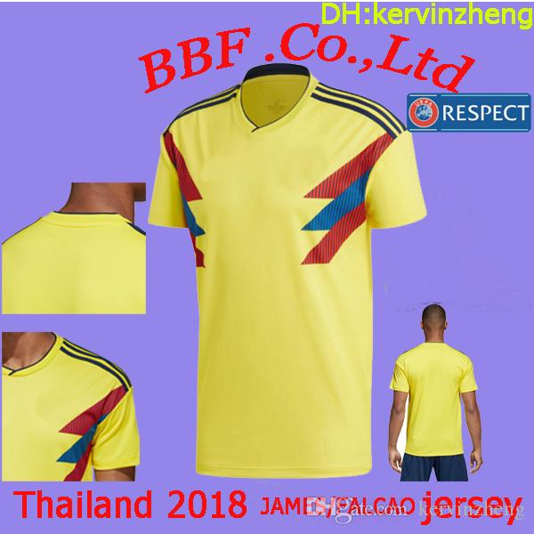 def4c753f7f Thailand T-thirt Soccer Jerseys Player Version Colombia Jersey ...