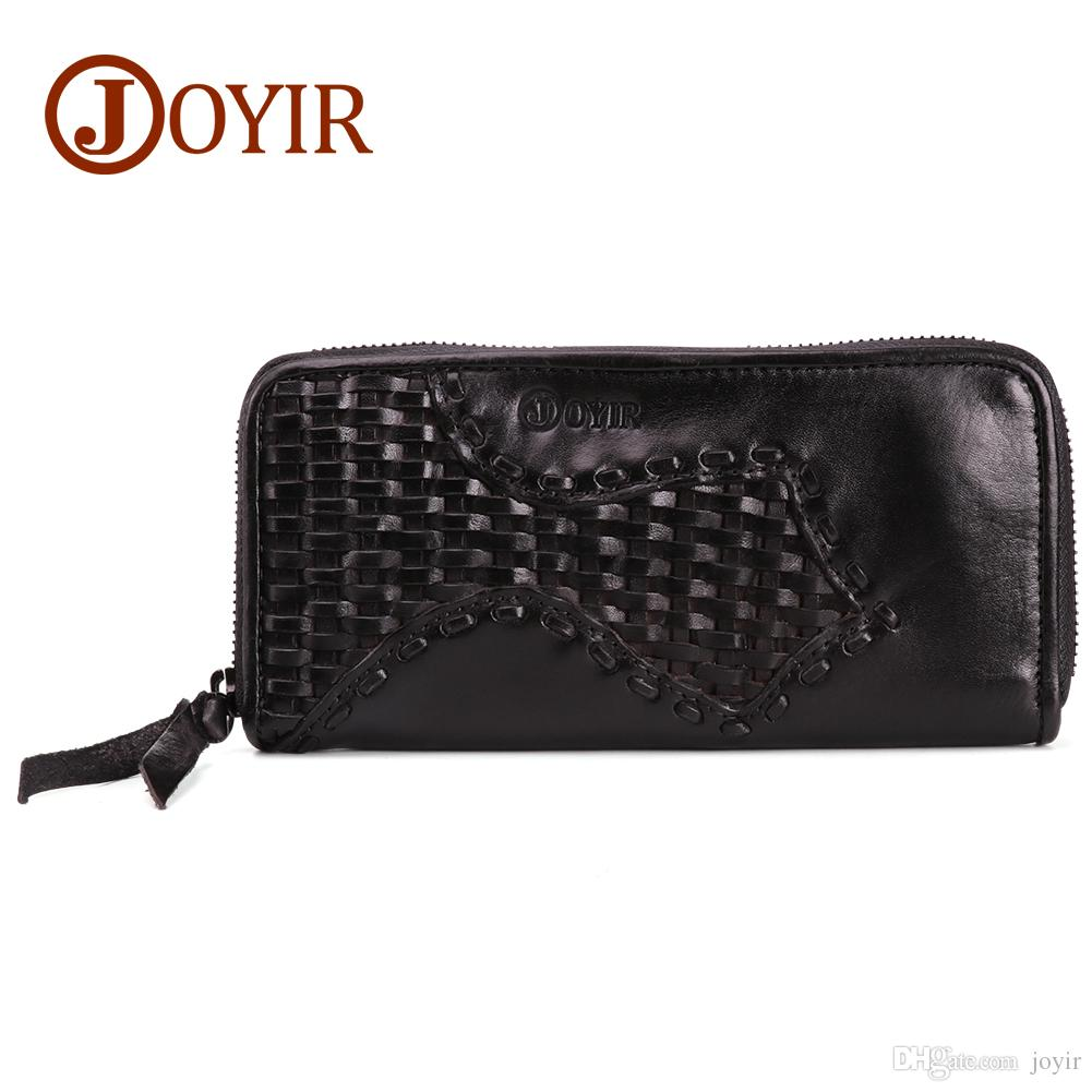 68666778f5 Wholesale Business Mens Brand Clutch Bags Cowhide Leather Phone Credit Card  Organizer Large Wallet 2018 Fashion Zipper Weave Hand Bag 9323 Business  Mens ...